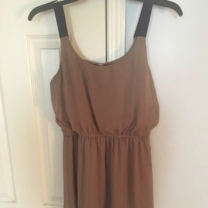 Casual tan dress